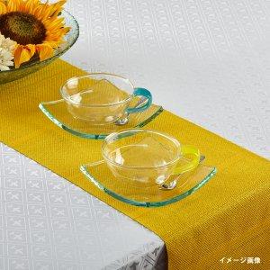 テーブルランナー  シャドーストライプ / イエロー