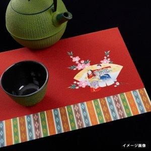 プリント敷物   雛祭り/ 立雛・桜  大サイズ