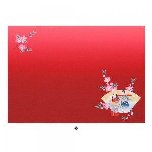プリント ランチョンマット  ひなまつり / 立雛桜