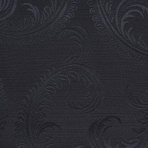 テーブルクロス  ペイズリー / ブラック