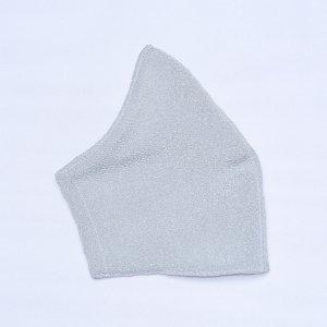 不織布マスクを通すだけ  肌に優しいマスクカバー  小波 / ライトグレー