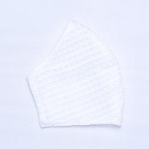 不織布マスクを通すだけ  肌に優しいマスクカバー  白 / チェック