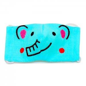 2~4歳幼児向けサイズ  マスク嫌いもこれで克服  ゾウ柄刺繍 あにまるマスク