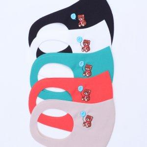 園児〜低学年向けサイズ  刺繍入りキッズマスク  風船クマ / 5カラー