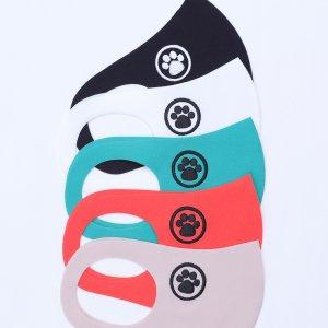 小学校 中・高学年向けサイズ  刺繍入りキッズマスク  猫の肉球 / 5カラー