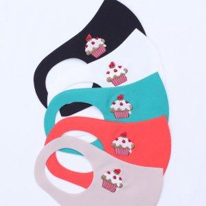 小学校 中・高学年向けサイズ  刺繍入りキッズマスク  ケーキ / 5カラー
