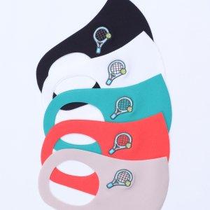 小学校 中・高学年向けサイズ  刺繍入りキッズマスク  テニス / 5カラー