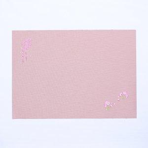 刺繍  ランチョンマット  2021春柄  しだれ桜 / 薄桃