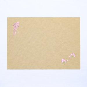 刺繍  ランチョンマット  2021春柄  しだれ桜 / ベージュ