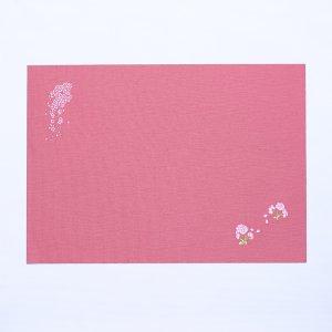刺繍  ランチョンマット  2021春柄  しだれ桜 / 濃桃