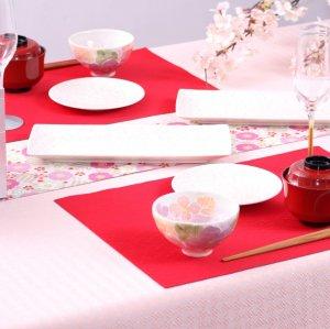 2021年新作  和洋折衷テーブルランナー  桜 / フラワーピンク