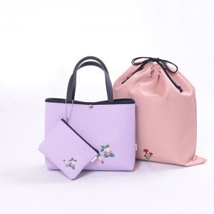 【送料無料】 母の日限定  ポーチ付刺繍バッグ  ギフトセット