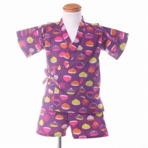 子供甚平(くり)紫408