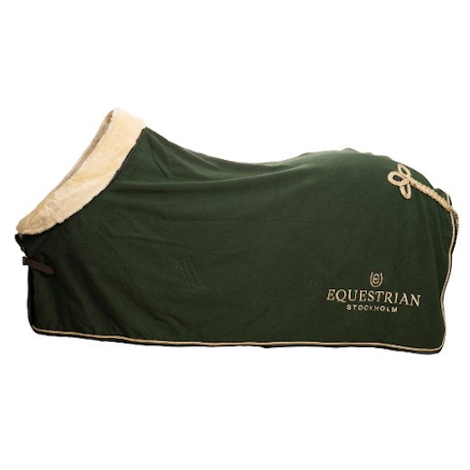 EQUESTRIAN STOCKHOLM フリースラグ - Forest Green