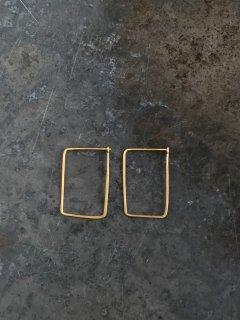内山直人 真鍮ピアス p-br-6