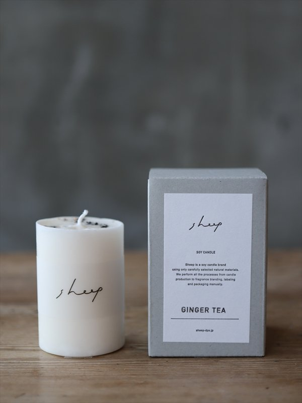 sheep SOY CANDLE GINGER TEA