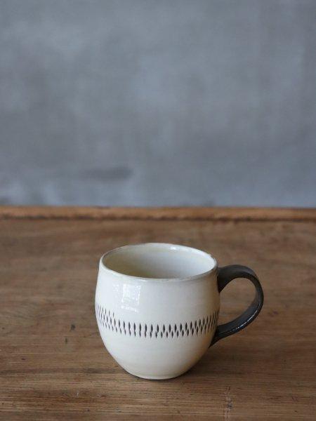 小鹿田焼 コーヒーCUPグラス型中央飛び鉋