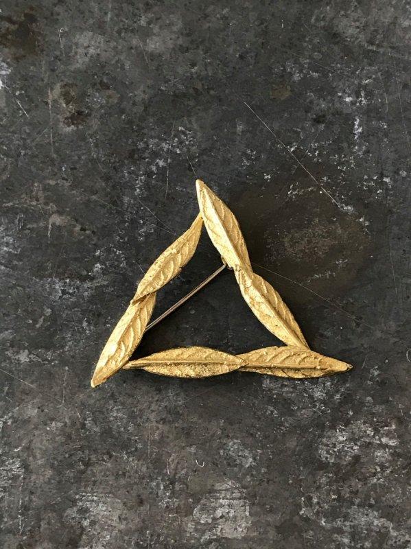 今城晶子 PLANTS三角ブローチ 小