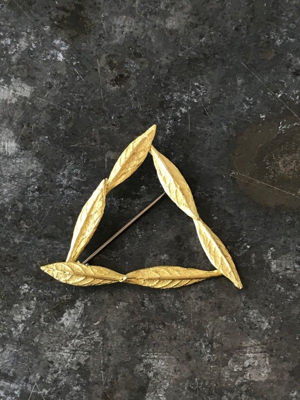 今城晶子 PLANTS三角ブローチ 大
