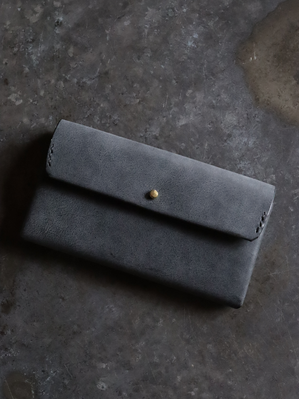 safuji ミニ長財布(ホック)裏地付 グレイブラック