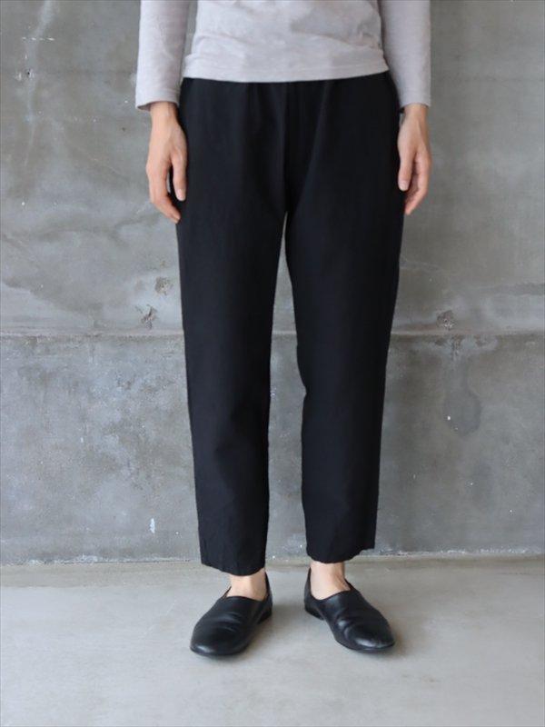 YAMMA 会津木綿スリムパンツ 黒