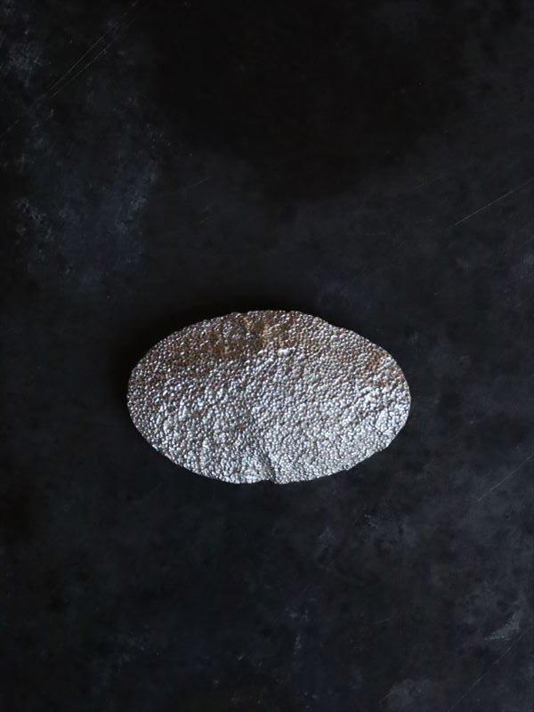 """Ryui Scale brooch """"lumpy"""" Silver"""
