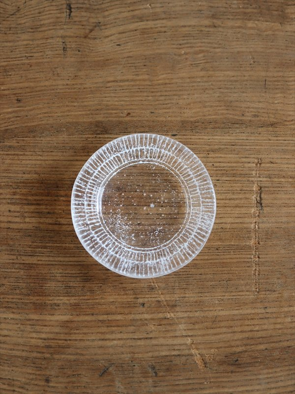 オオタ硝子研究室 リム豆皿(白)