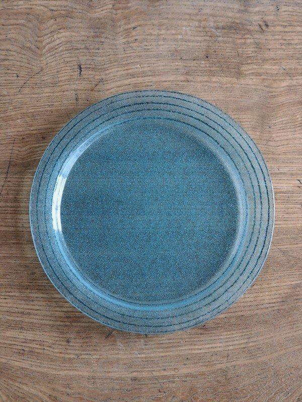 オオタ硝子研究室 ケーキ皿(エメラルドグリーン)
