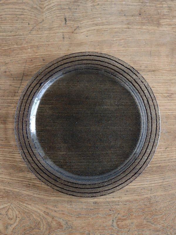 オオタ硝子研究室 ケーキ皿(ダークグレイ)
