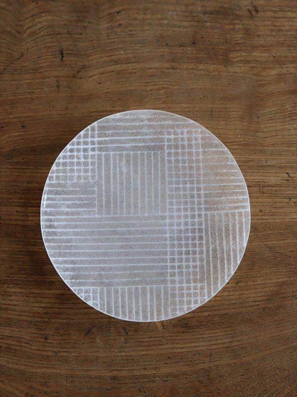 オオタ硝子研究室 丸小皿(白)