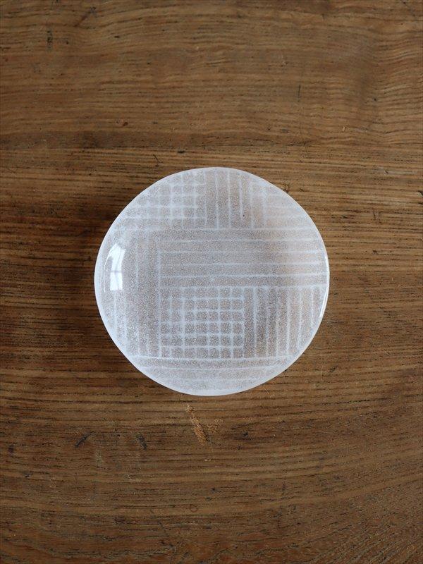 オオタ硝子研究室 丸豆皿(白)