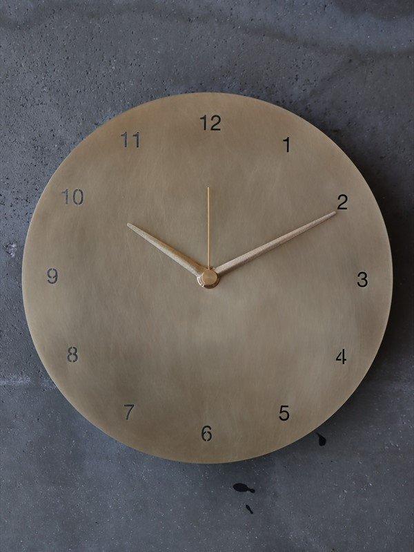 bowl pond  時計(大) 真鍮 数字