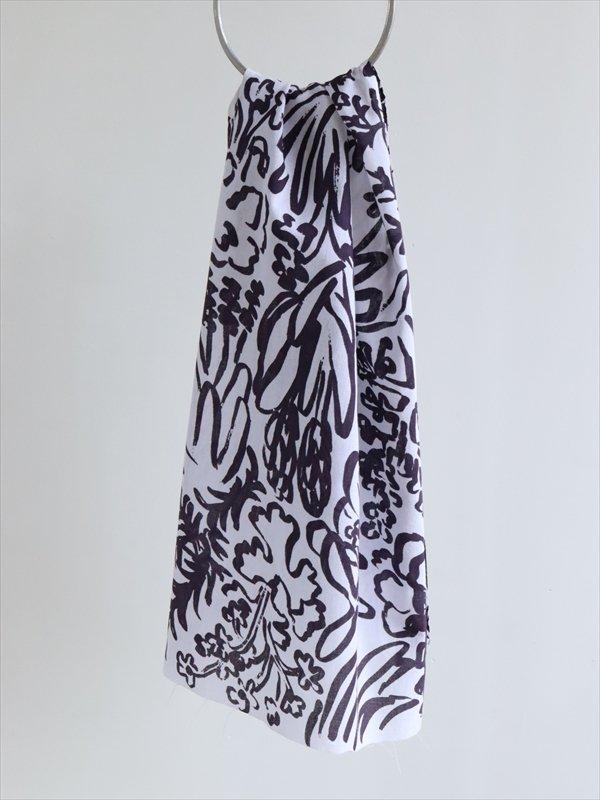 網中いづる 手ぬぐい テュリップノアール(黒いチューリップの色で深い紫色)