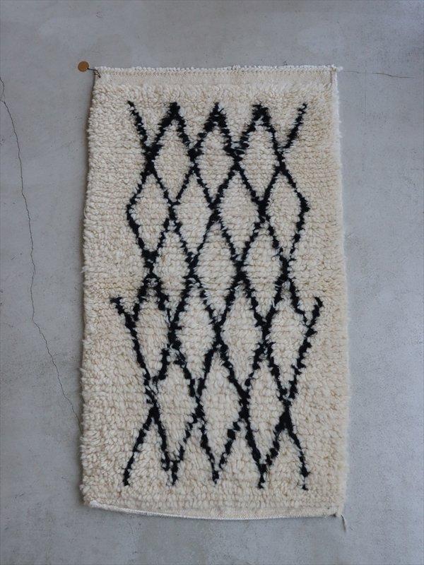 モロッコの羊毛ラグ A