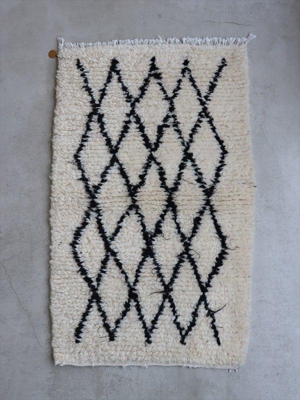 モロッコの羊毛ラグ C
