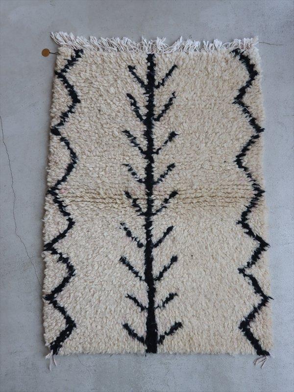 モロッコの羊毛ラグ D