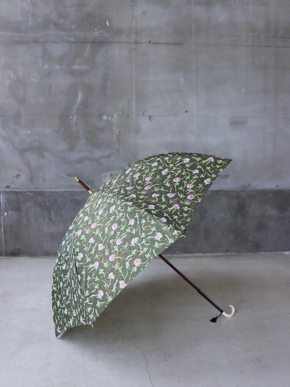 イイダ傘店 雨傘 アカツメクサ