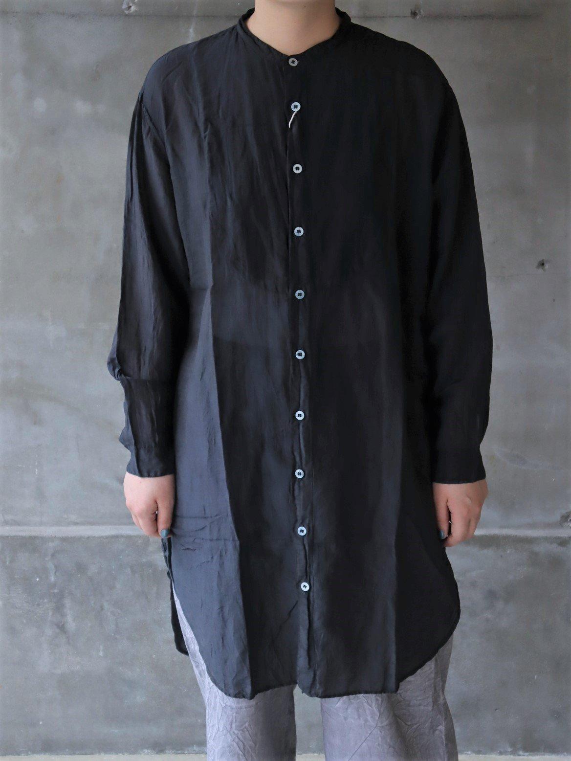 宝島染工 切替BIGシャツシルクコットン ブラック