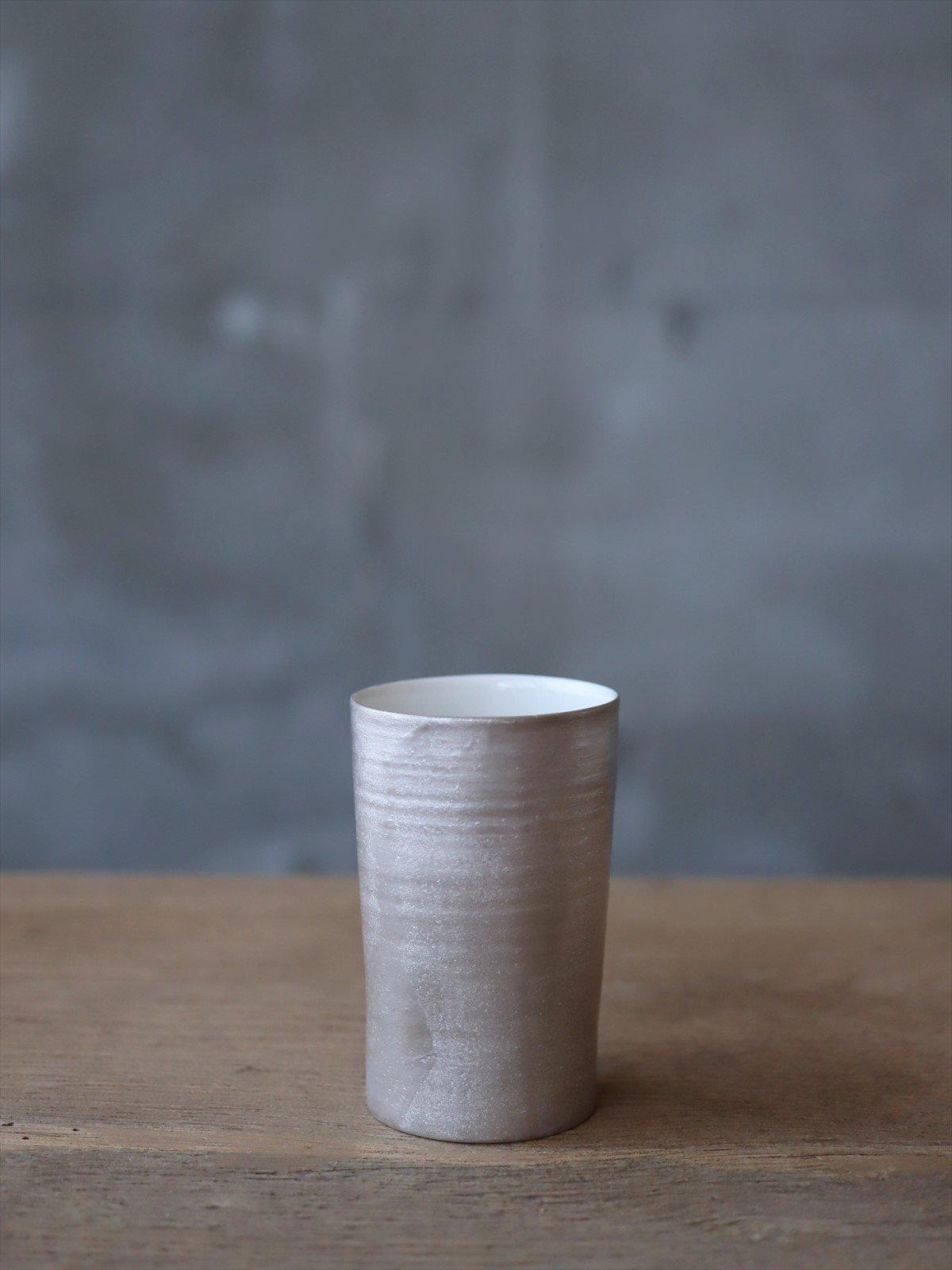 松本美弥子 月白カップ 銀×白 C