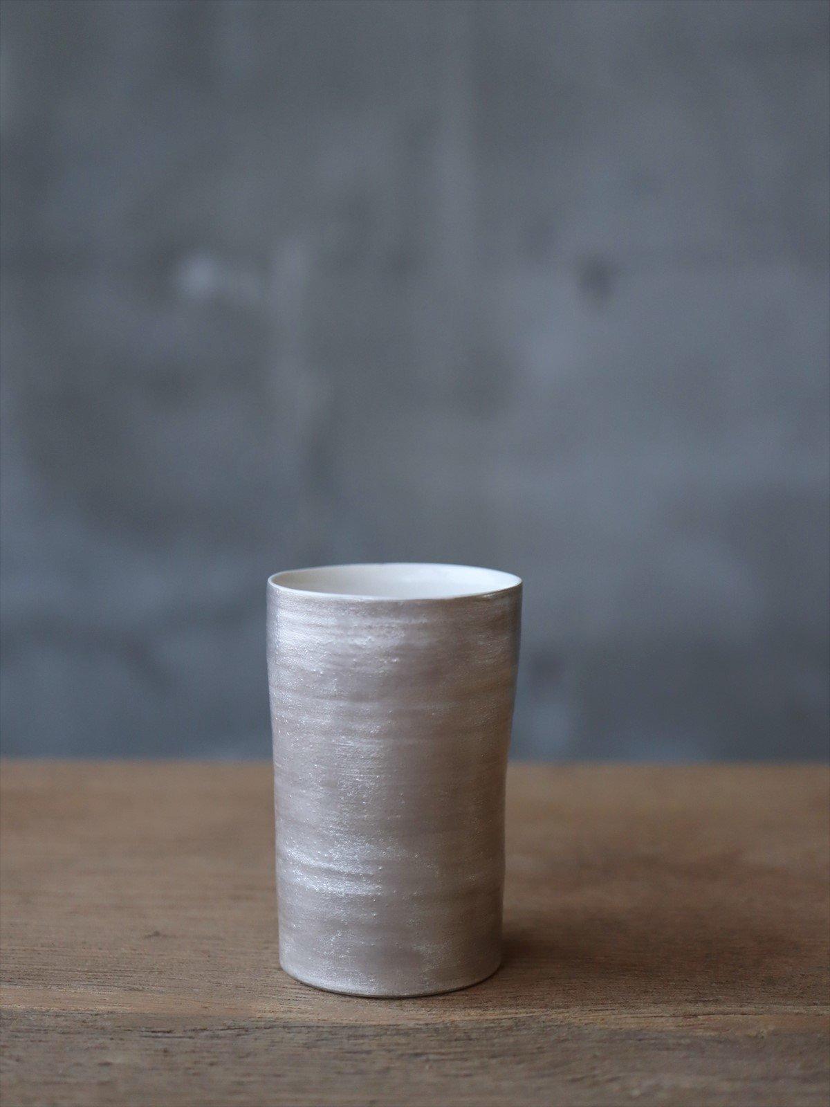 松本美弥子 月白カップ 銀×白 D