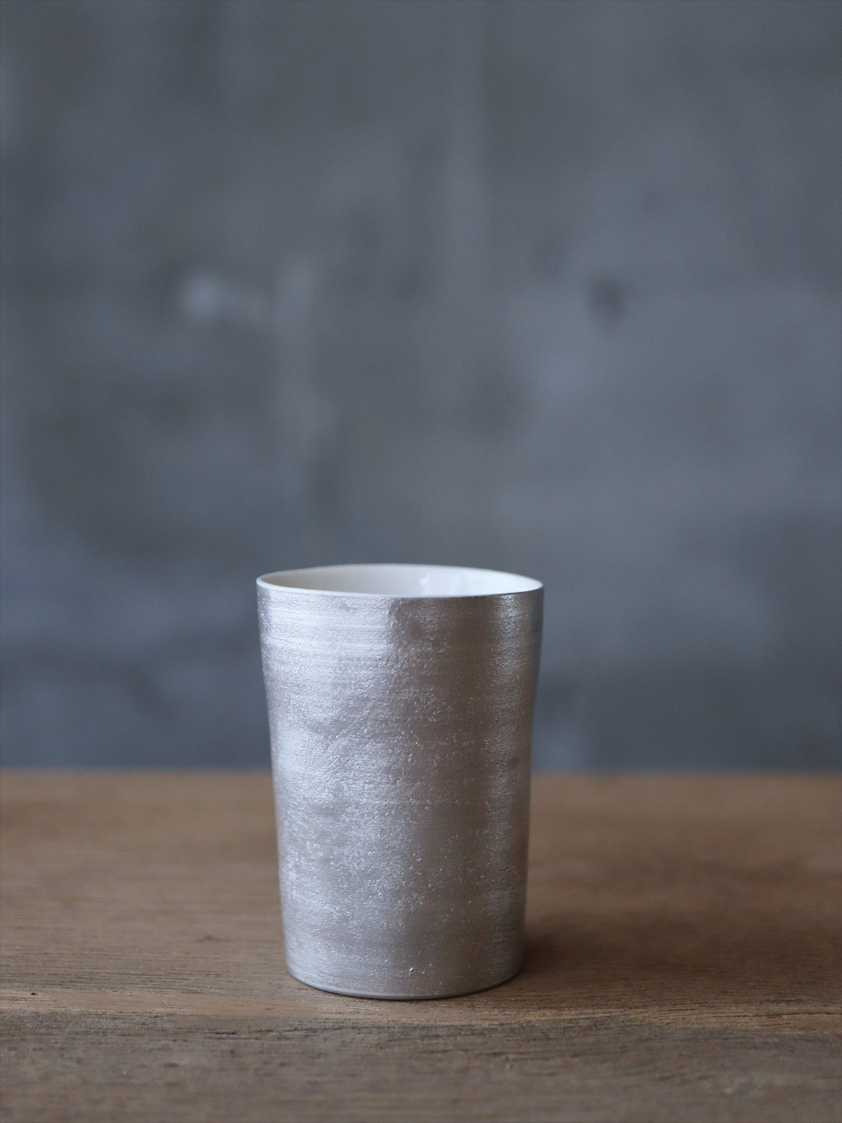 松本美弥子 月白カップ 銀×白 G