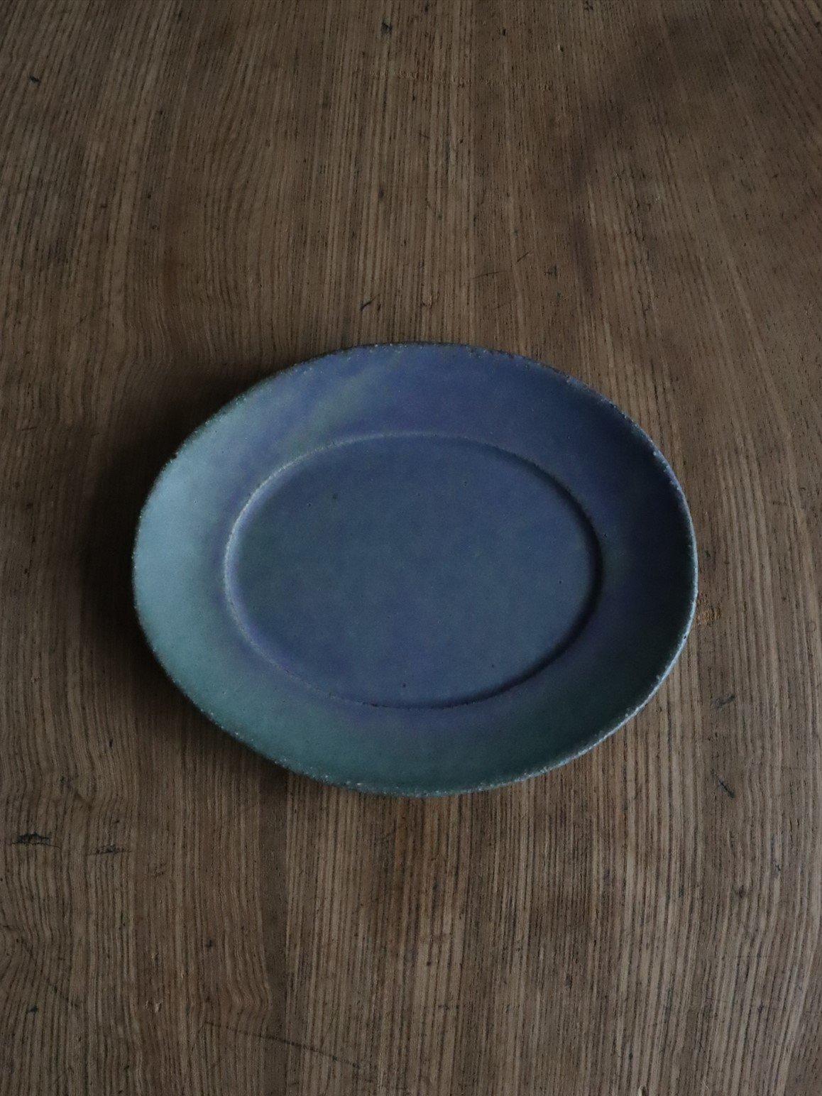 錆枝 オーバルプレート(M)緑青