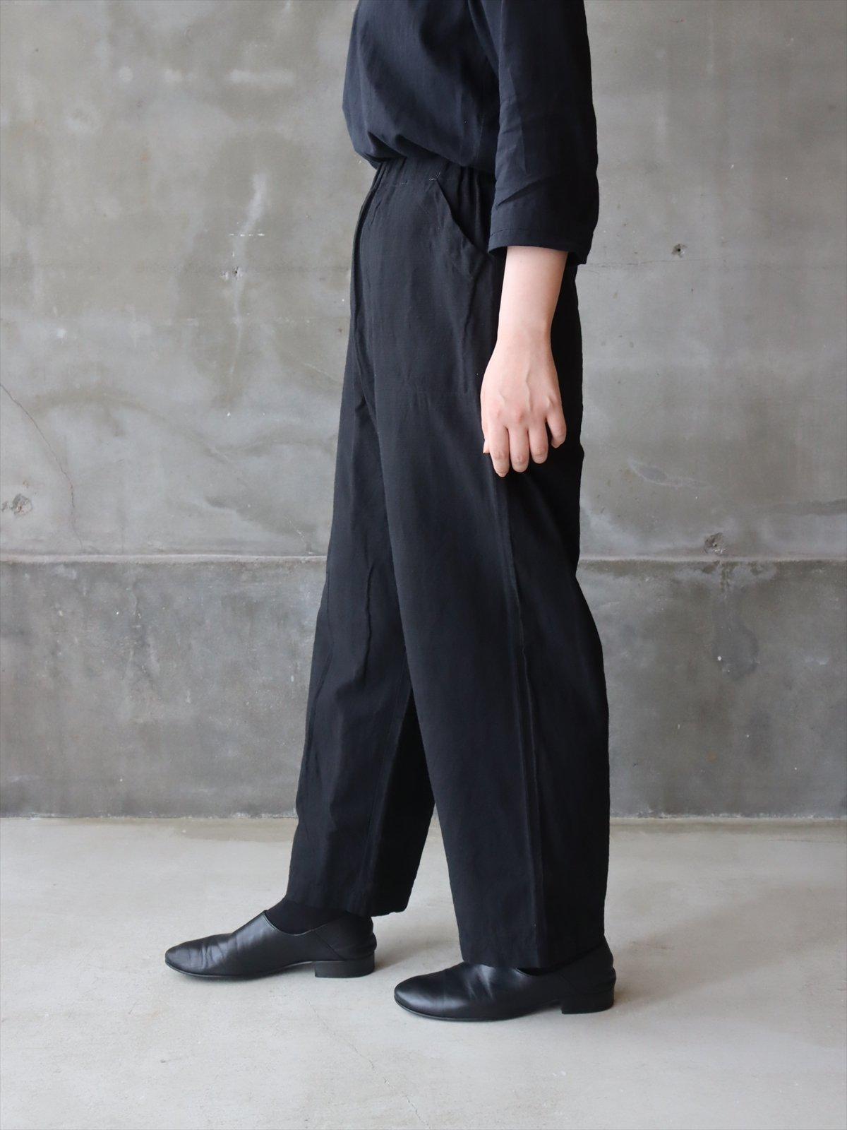 YAMMA 会津木綿ダボダボパンツ 黒