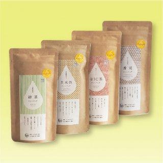紐付きティーバッグ4種セット (緑茶  玄米茶  ほうじ茶   ほうじ玄米茶香双・箱入)