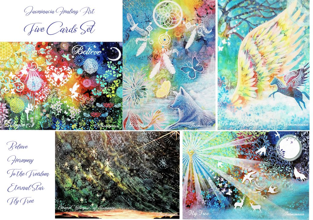 Jasminacia Healing Art  【 Five Cards Set 】