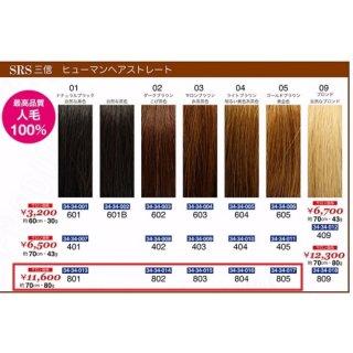 KM-496-10☆新品<BR>SRS三信<BR>ヒューマンヘアストレート<BR>約70cm・80g(HB)