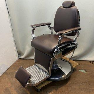 EC-778-04 美品 理容椅子BROOKLYN(ブルックリン) ブラウン(HB)