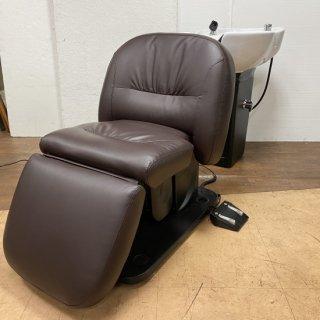 SA-881-16  ワイドボウル+電動フラットシャンプー椅子BURLY セット 在庫1台(HB)