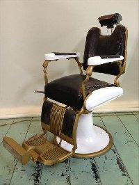 RB-036-16  タカラベルモント製 理容椅子 54号   シート張替込(HB)
