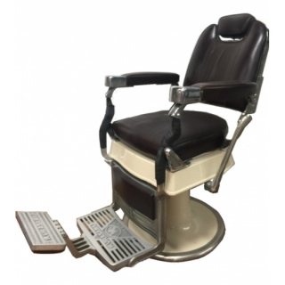 RB-046-16  クラサワ製 レトロ理容椅子 シート張替  在庫1(HB)